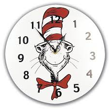 amazon com trend lab dr seuss wall clock cat in the hat baby