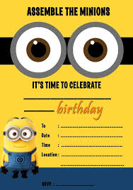 diy minion invitations despicable me minions party invitations kids children s invites