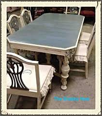 Painted Dining Room Sets Dining Room Set Chalk Milk Paint Redo Hometalk