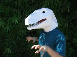 velociraptor mask paper mask and masking