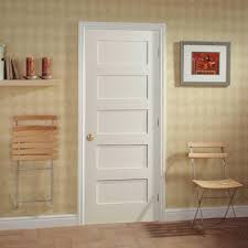 Home Interior Door by Masonite Mdf Series Smooth 5 Panel Equal Solid Core Primed