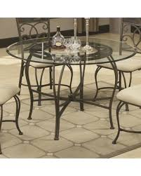 round glass top table with metal base savings on 120831 45 round glass top dining table with stretchers