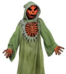 halloween costumes for kids pumpkin kids pumpkin head grim reaper scary halloween costume ebay