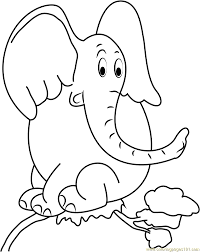 horton sitting on tree coloring page free horton coloring pages