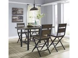 korvina 5 piece rectangular dining room counter table w pine