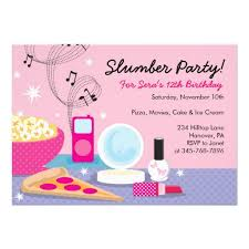 Kids Birthday Party Invitation Card Free Slumber Party Invitation Template 2 Birthday Pinterest