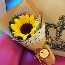 sunflower bouquet fresh single stalk sunflower bouquet the flower studio