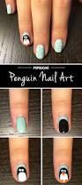 penguin nail art tutorial popsugar beauty