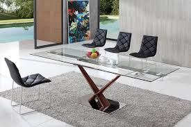 Dining Table And Chairs Glass Dining Table Modenza Furniture - Contemporary glass dining table and chairs