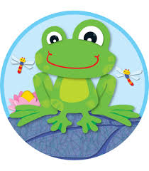 funky frog two sided decoration cd 188041 classroom decor