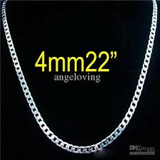 sterling silver necklace sale images Top sale 925 sterling silver 4mm curb chain necklace fashion men 39 s jpg