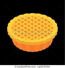 clipart vector of thanksgiving day pumpkin pie isolated vintage