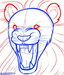 easy lion drawing steps how to draw a lion in easy steps for