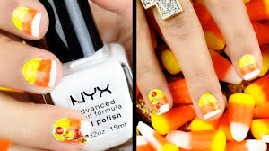 nail art candy corn nails charisma star youtube nail art
