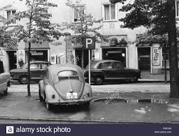 volkswagen beetle 1960 custom parking space black and white stock photos u0026 images alamy