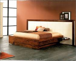 diy dark brown stained wooden king bed frame with storage and