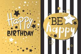 beautiful birthday invitation card design gold and black colors