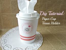 diy paper cup tissue holder tutorial youtube