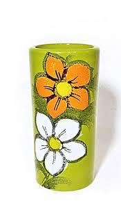 Italian Vase Rosenthal Netter Bitossi Chartreuse Vase Italian Midcentury