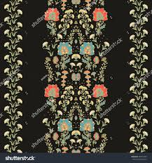 seamless floral ornamental ribbon stock vector 243510499