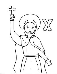 blessed mother coloring pages x is for st francis xavier francis xavier