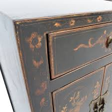 Antique Wood File Cabinets by 82 Off Antique Wood Side Tables With Floral Design Tables