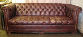 Distressed Chesterfield Sofa Vintage Chesterfield Sofa By Leathercraft Sold White Trash Nyc