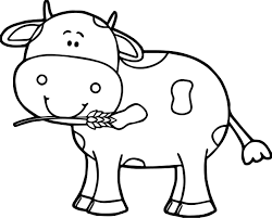 free printable cow coloring pages for kids inside cartoon