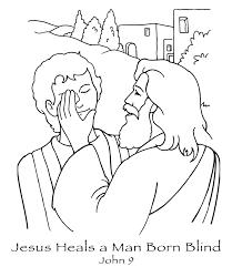free coloring pages printable jesus heals blind man