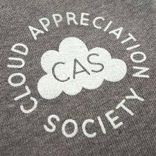 cloud appreciation society cas sweatshirt light grey