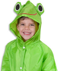 amazon com cloudnine children u0027s froggy raincoat for ages 5 12