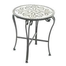 white patio side table patio side table metal tingz me