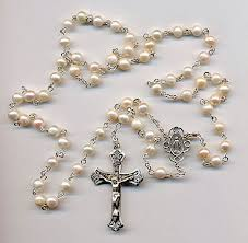 pearl rosary sterling silver rosaries www softheartdesigns