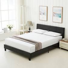 Platform Bed Frame With Headboard Upholstered Bed Ebay