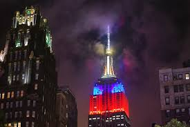 Filipino Flag Colors Nyc Nyc Empire State Building Lit Up In Colors Of The