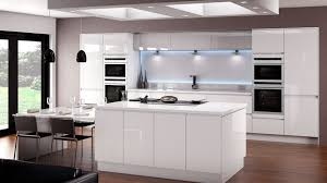 fitted kitchen ideas linear white gloss kitchen betta living