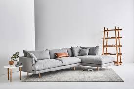 Gray Sofa Decor Sofas Awesome Hampton Seater Chaise Sofa Bellevue Cement Light