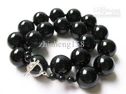 round bead necklace images 2018 huge black onyx 16mm round beads necklace aa from jpg