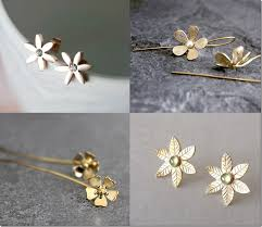 earring styles gold floral themed earring styles jewelry inspiration