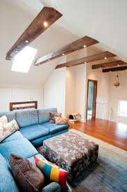 lighting on exposed beams lighting for exposed beam ceilings family room contemporary with