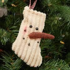 primitive chenille snowman ornament ornaments
