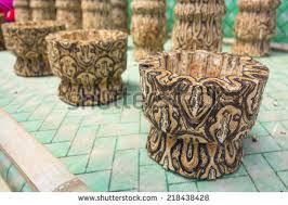 Vase On Sale Wood Carving Rose Motif Stock Photo 5877457 Shutterstock