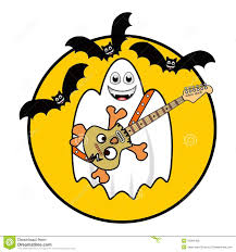 halloween ghost playing guitar royalty free stock image image