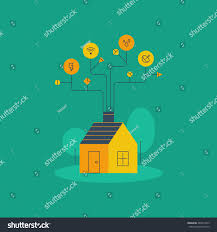 smart home systems home improvement water electricity supplies internet stock vector