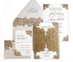 White And Gold Wedding Invitation Cards Laser Cut Wedding Invitations Letterpress Invitations