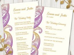 indian wedding program template 28 best paisley wedding invitations images on paisley