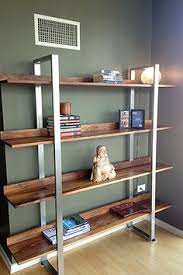 Reclaimed Wood And Metal Bookcase Industrial Rustic Bookcase Vintage Style Shelving Unit Made With