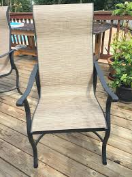 Sling Replacement For Patio Chairs The In Addition To Beautiful Patio Chair Sling