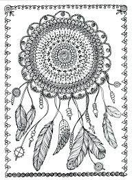 instant download dreamcatcher digital file coloring