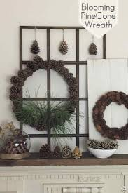 blooming pine cone wreath pine cone wire wreath and wreaths